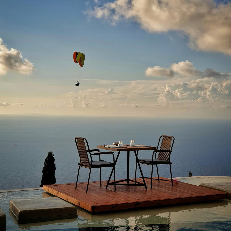 Amente Restaurant Lefkada clouds